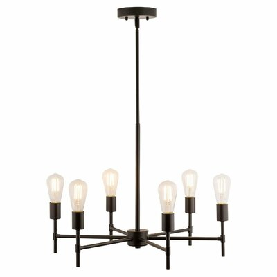 Sherri 6-Light Candle-Style Chandelier Finish: Bronze