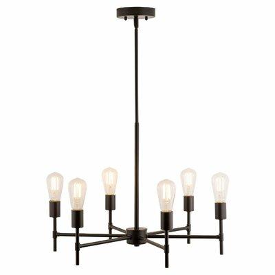 Sherri 6-Light LED Candle-Style Chandelier Finish: Bronze