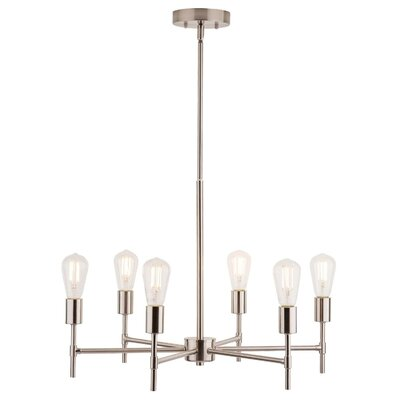 Sherri 6-Light Candle-Style Chandelier Finish: Brushed Nickel