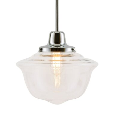 Isaiah 1-Light Schoolhouse Pendant Finish: Polished Chrome