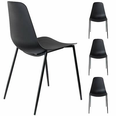 Oclie Dining Chair Finish: Black