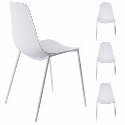 Oclie Dining Chair Finish: White