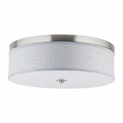 Broyles 3-Light Flush Mount Shade Color: Heather Gray