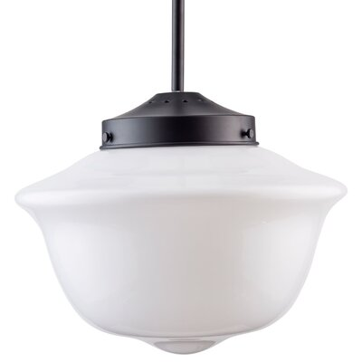 Hildred 1-Light Schoolhouse Pendant Finish: Black