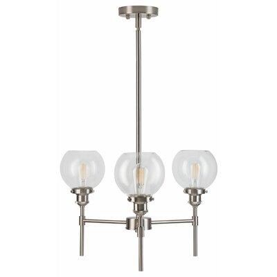 Dunneback 3-Light Candle-Style Chandelier Finish: Brushed Nickel