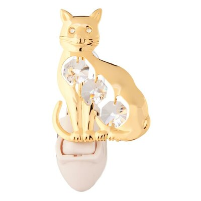 24K Gold Plated Kitty Cat Night Light