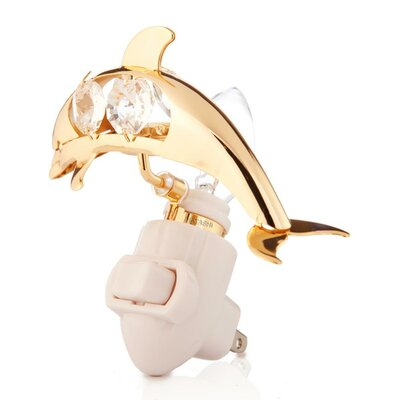 24K Gold Plated Dolphin Night Light