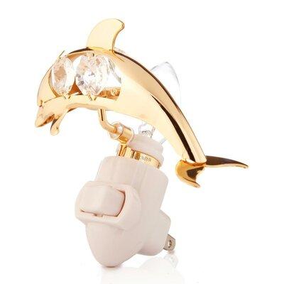 24K Gold Plated Dolphin Night Light