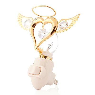 Valentine Gift 24K Gold Plated Angel Heart Night Light
