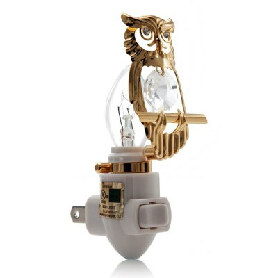 24K Gold Plated Owl Night Light