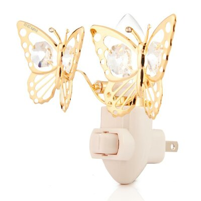24K Gold Plated Butterfly Night Light