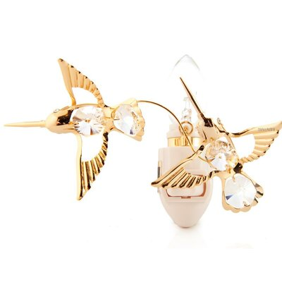 24K Gold Plated Twin Hummingbirds Night Light