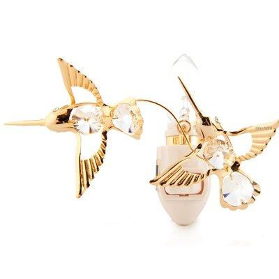 24K Gold Plated Twin Hummingbirds Night Light