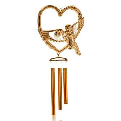 Cherub in a Heart Decorative Wind Chime CTW2312