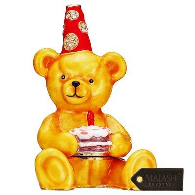 Birthday Bear Decorative Box with Elegant Crystals MTTB3054