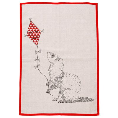 Galgorm Parks Animal Flying Kite Blush Area Rug