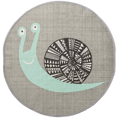 Snail Gray Area Rug