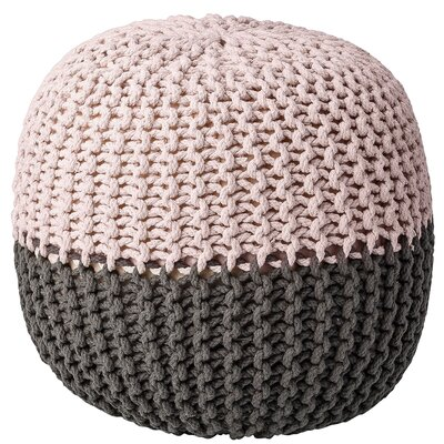 Pouf Ottoman Upholstery: Nude/Gray