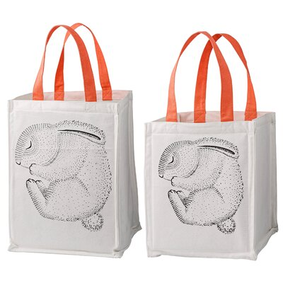 Sleeping Animal 2 Piece Storage Bag with Handles Set A62000137