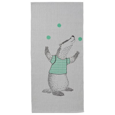 Juggling Badger Gray Area Rug