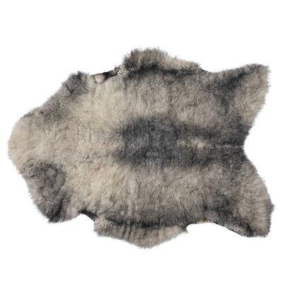 Nishimura Faux Sheepskin Gray/Beige Area Rug