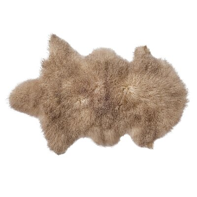 Faux Sheepskin Sand Area Rug
