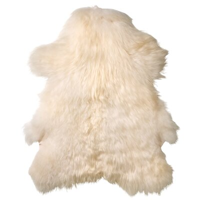 Creasey Faux Sheepskin White Area Rug