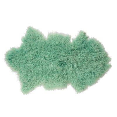 Faux Sheepskin Mint Area Rug