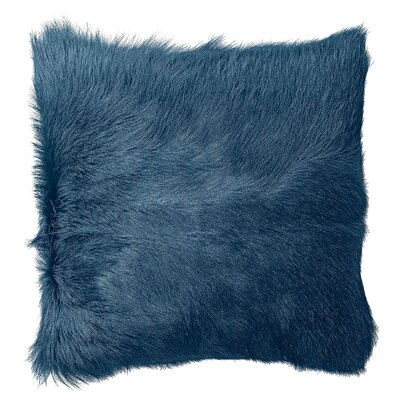 Betts Goat Fur Throw Pillow