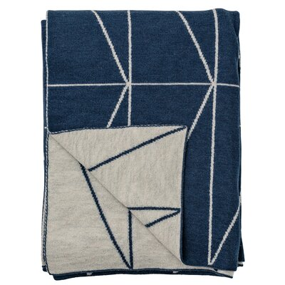Zig Zag Print Knitted Wool Throw