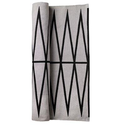 Gray/Black Area Rug Rug Size: 2 x 3