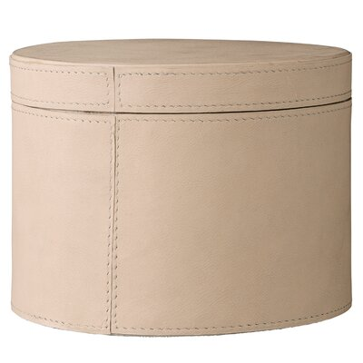"Leather Box With Lid Size: 4.25"" H X 6.5"" W X 6.5"" D"