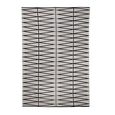 Gray/Black Area Rug Rug Size: 47 x 66