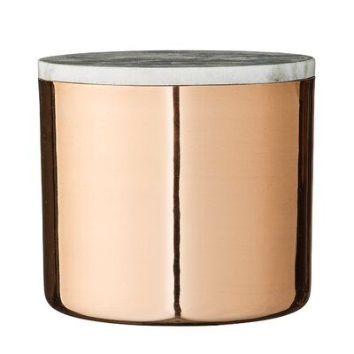 Metal Jar Kitchen Canister Size: 5.5 H