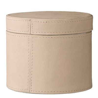 "Leather Box With Lid Size: 3"" H X 4.75"" W X 4.75"" D"