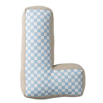 Wilson Cotton Throw Pillow Letter: L