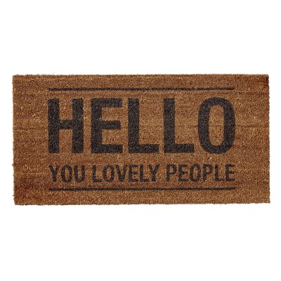 Hello You Lovely People Doormat Rug Size: 14 x 28