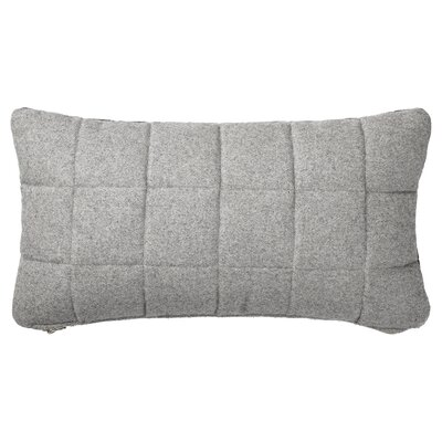 Quilted Recycled Wool Throw Pillow Color: Gray
