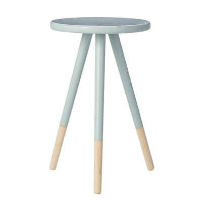 Keenan Wood End Table Color: Sky Blue