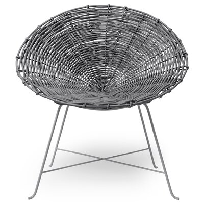 Braided Rattan Papasam Chair Fabric: Gray/Gray