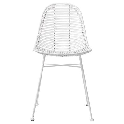 Rattan Side Chair Finish: White