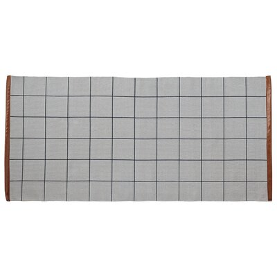 Checks Cool Gray Area Rug