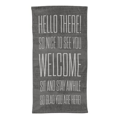 Hello There� Gray Area Rug