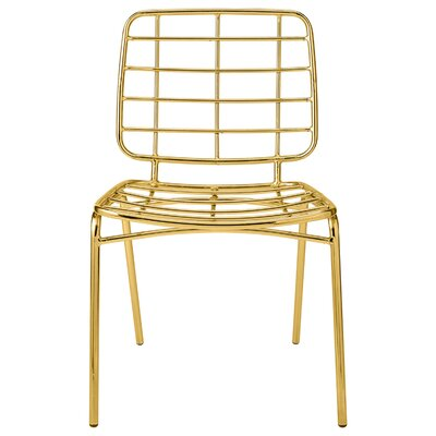 Metal Side Chair Finish: Gold