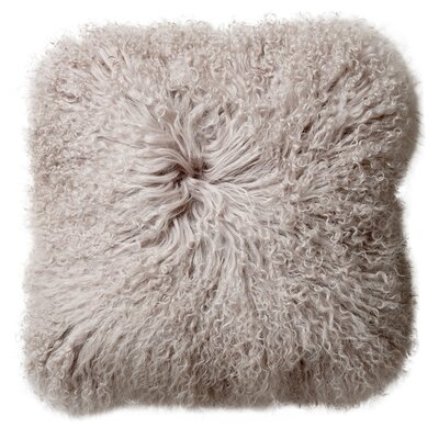 Morillo Mongolian Lamb Fur Throw Pillow