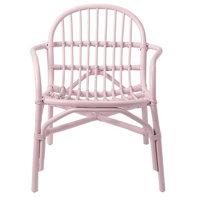 Rattan Armchair Fabric: Blush