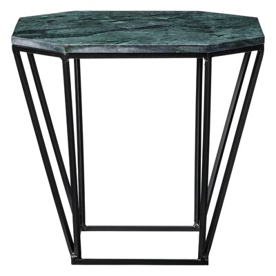 Octagon End Table Finish: Black/Green