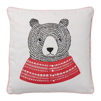 Bear Cotton Throw Pillow