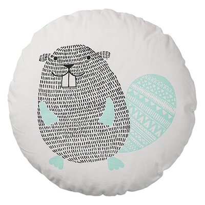 Beaver Cotton Throw Pillow