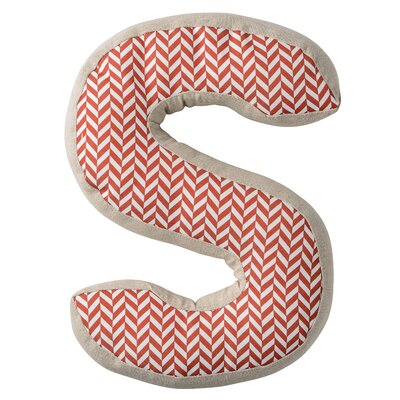 S with Pattern Cotton Throw Pillow